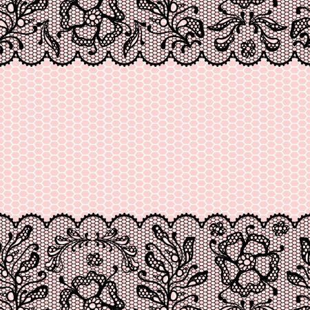rosa negra: Marco de la vendimia encajes, flores ornamentales textura