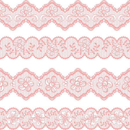 retro lace: Vintage lace background, ornamental flowers  texture  Illustration