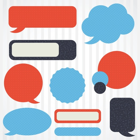 Collection of retro speech bubbles and dialog balloons Stock Vector - 15500172