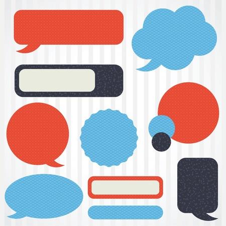 talk balloon: Collection of retro speech bubbles and dialog balloons Illustration