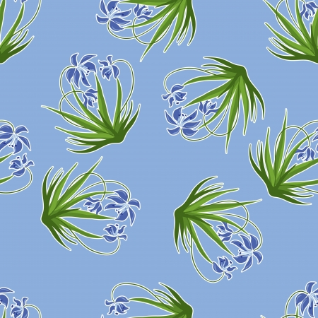 Pastel background with blue snowdrops  illustration Stock Vector - 15308481