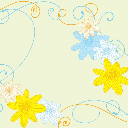 ornamental garden: Abstract flowers background with place for your text Illustration