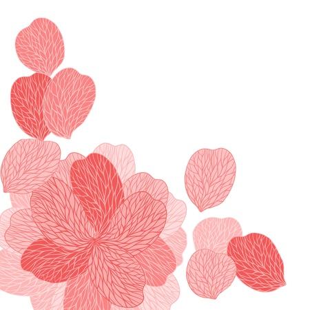 pamper: Background of pink flower petals  illustrasion