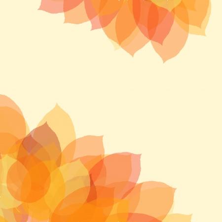 오렌지: 텍스트, 그림에 대 한 공간을 가진 가을 잎 배경 일러스트