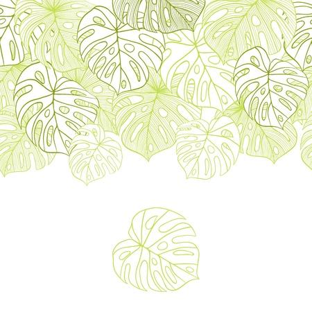 cigarra: hojas ilustración del patrón Seamless palmera