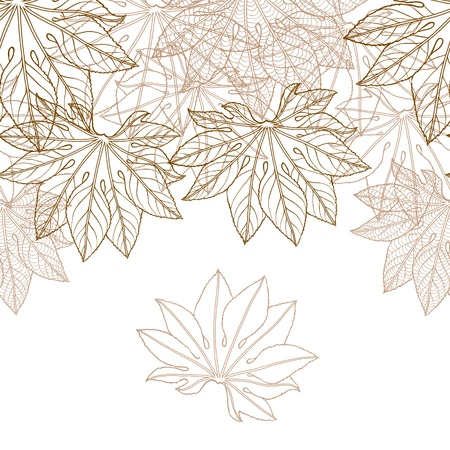 Autumn leaves background illustration  Vector