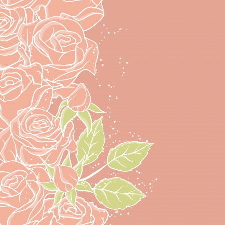 Floral background with rose in pastel tones Stock Vector - 15312171