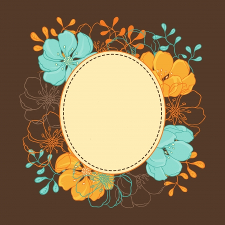 brawn: background with hand drawn stylish flowers