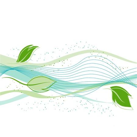Fresh green leaves background - illustration Stock Vector - 15308063