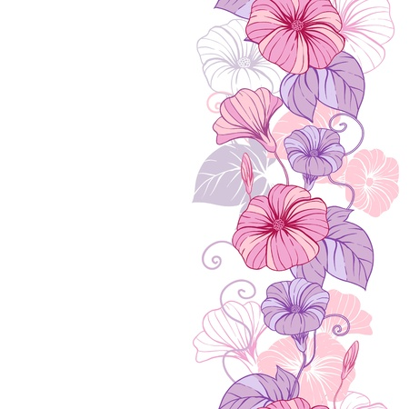 art flower: Stylish abstract floral background  Design of flowers  Illustration