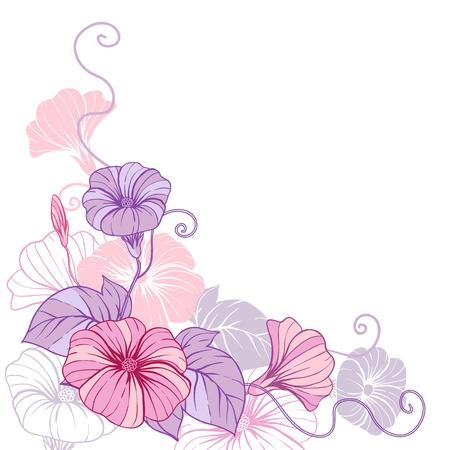 flores moradas: Elegante diseño abstracto de fondo floral de las flores Vectores