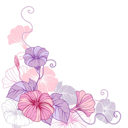 heart flower: Stylish abstract floral background  Design of flowers  Illustration