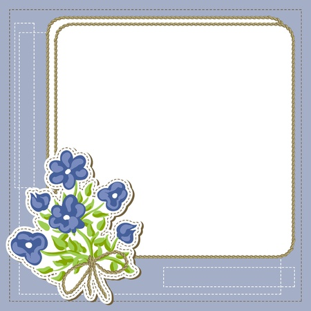 Vintage frame with flowers, retro background Vector