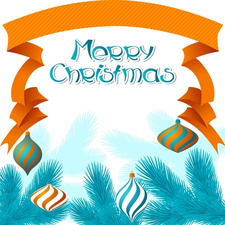 Merry Christmas background in retro style  Vector