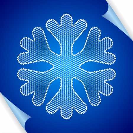 Christmas  background with snowflakes of lace Stock Vector - 15348522