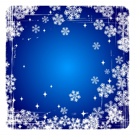 Decorative Merry Christmas background with snowflakes  Stock Vector - 15407120