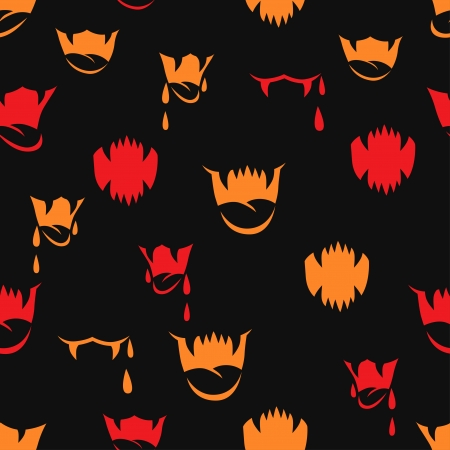 fang:  seamless pattern with sharp teeth  Halloween background  Illustration
