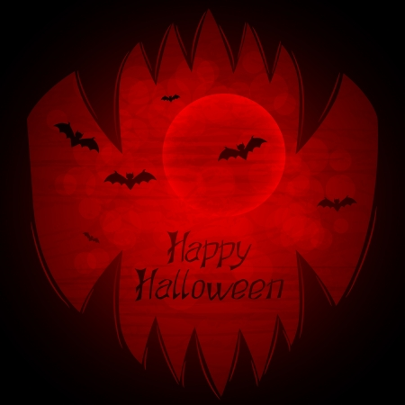 Halloween background with sharp teeth  Vector
