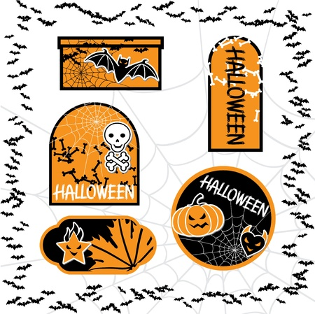 Halloween sale tags isolated  Vector bubbles for you design  Vector