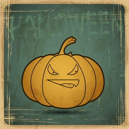 EPS10 vintage grunge old card  Halloween pumpkin  Vector