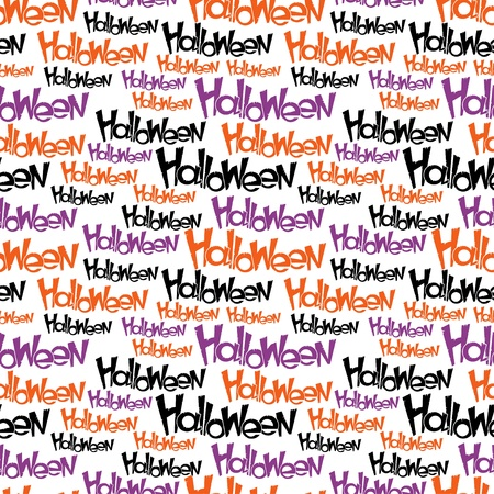 Happy Halloween seamless pattern  Stylish background  Vector