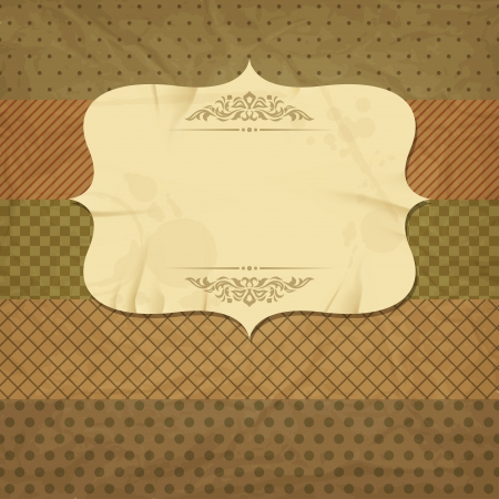 Vintage et rétro carte de vieux papier avec espace pour le texte