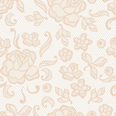 lace border: Vintage lace background, ornamental flowers  texture  Illustration