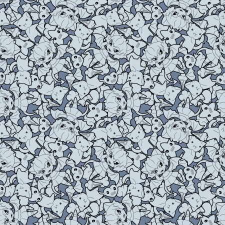 Seamless pattern with doodle illustration  Vector