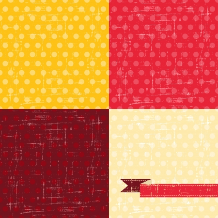 Seamless abstract retro pattern  Stylish grunge background  Vector