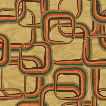 circulos concentricos: patrón retro en el papel viejo vintage