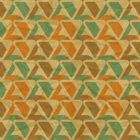 crumpled paper ball: retro seamless pattern on vintage old paper  Illustration