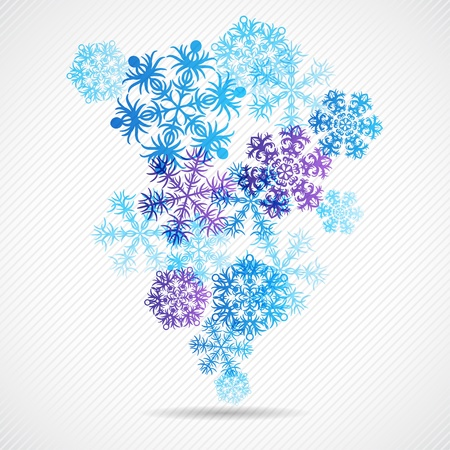 Christmas winter background with snowflake  illustration Stock Vector - 15759866