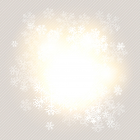 Christmas winter background with snowflake  illustration Stock Vector - 15759860