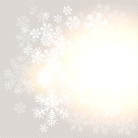 Christmas winter background with snowflake  illustration Stock Vector - 15759856