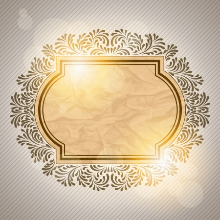 Retro background with vintage calligraphic ornate frame Vector