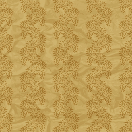 Seamless vintage wallpaper, floral pattern, retro wallpaper Stock Vector - 15809994