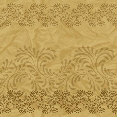 textured paper background: Seamless vintage wallpaper, floral pattern, retro wallpaper
