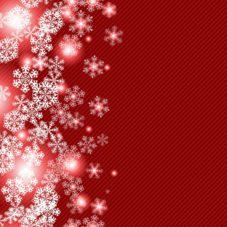 Christmas winter background with snowflake Stock Vector - 15934889