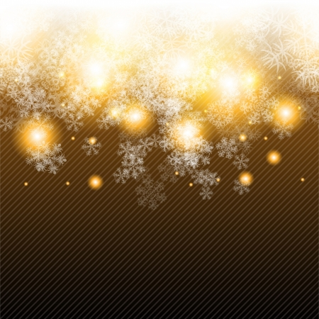 Christmas winter background with snowflake Stock Vector - 15934896