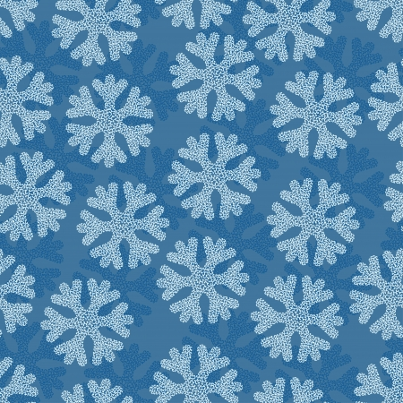 Christmas and Hollidays seamless pattern with snowflakes  Stock Vector - 15934893