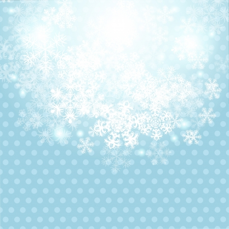 Christmas winter background with snowflake  Vector illustration