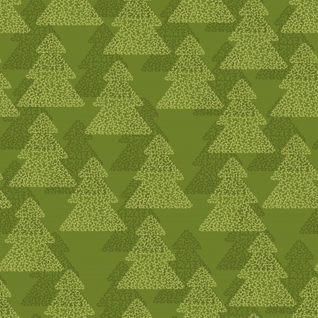 hollidays: Christmas and Hollidays seamless pattern with trees