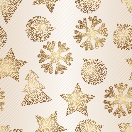 hollidays: Christmas and Hollidays seamless pattern  Vector illustration  Illustration