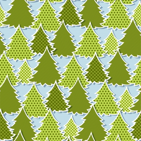 Eps 10 Christmas seamless pattern in the style of application  Vector
