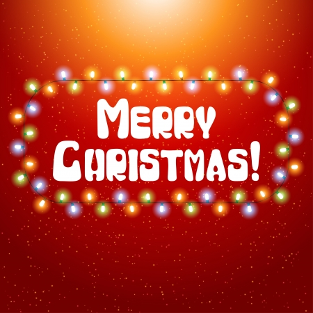 Christmas background with luminous garland Stock Vector - 15997379