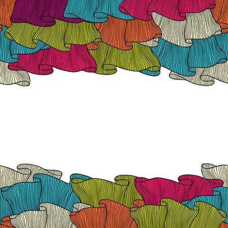 물결: 레이스 프릴 손 원활한 패턴을 그려 일러스트
