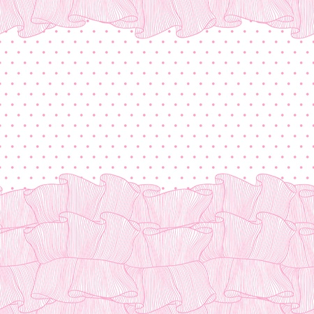 Lace and frills  hand drawn seamless pattern Vector