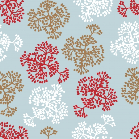 Seamless pattern with brunches  Vector background of nature Stock Vector - 15997487