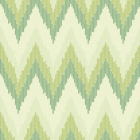 cubism: Zigzag pattern in green color  Seamless texture