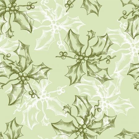 christmas seamless pattern: Vintage Christmas and Holidays seamless hand drawn pattern  Illustration